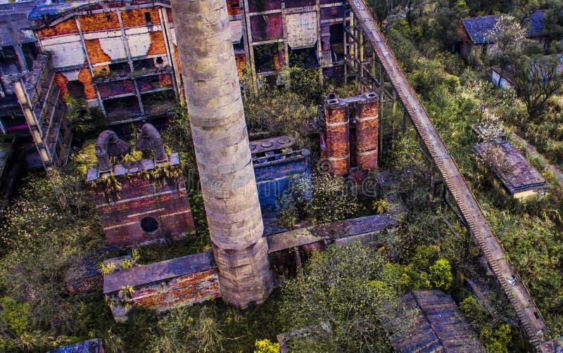 被放弃的能源厂 免版税库存照片