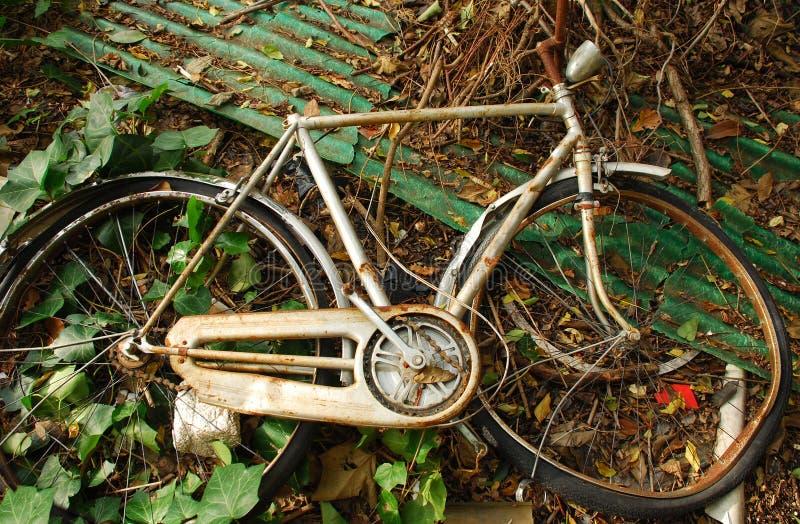 被放弃的自行车 库存照片