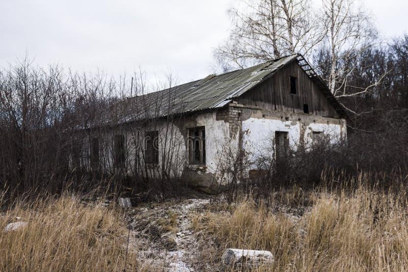 被放弃的营房 图库摄影