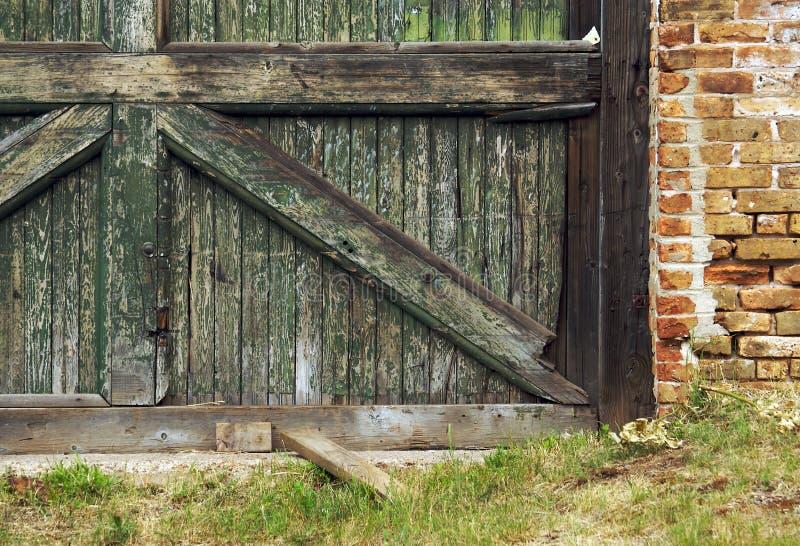被放弃的谷仓墙壁 库存照片