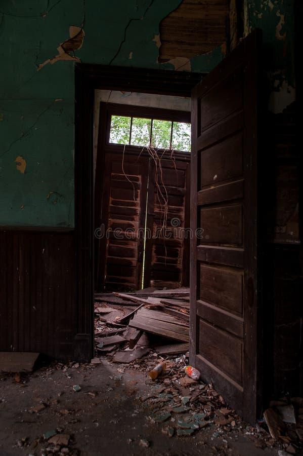 被放弃的Cannel市联合教会-阿巴拉契亚山脉-肯塔基 图库摄影