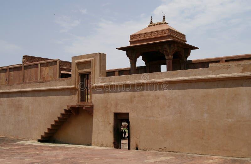 被放弃的fatehpur印度sikri寺庙 免版税图库摄影