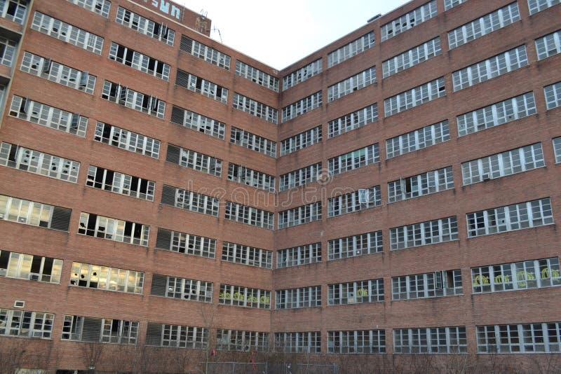 被放弃的Northville地方精神病院 免版税库存照片
