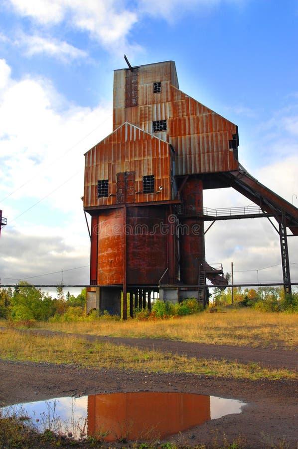 被放弃的Osceola铜矿轴 免版税库存图片