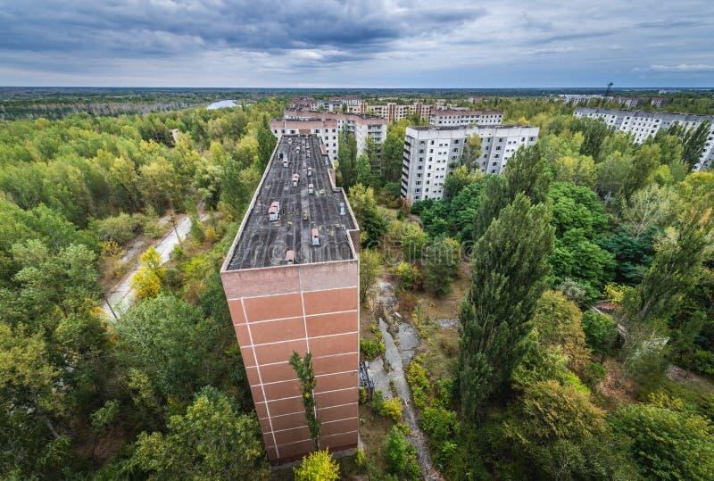 被放弃的Pripyat市 图库摄影