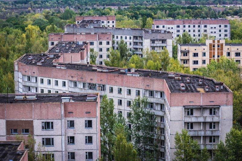 被放弃的Pripyat市 库存图片