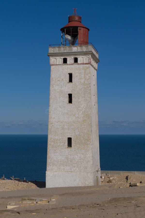 被放弃的Rubjerg Knude灯塔,丹麦 库存图片