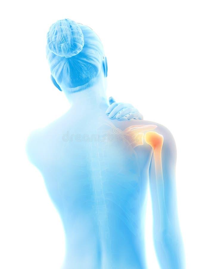 被显示的联合肩膀 向量例证