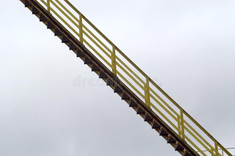 被暂停的楼梯 免版税库存照片