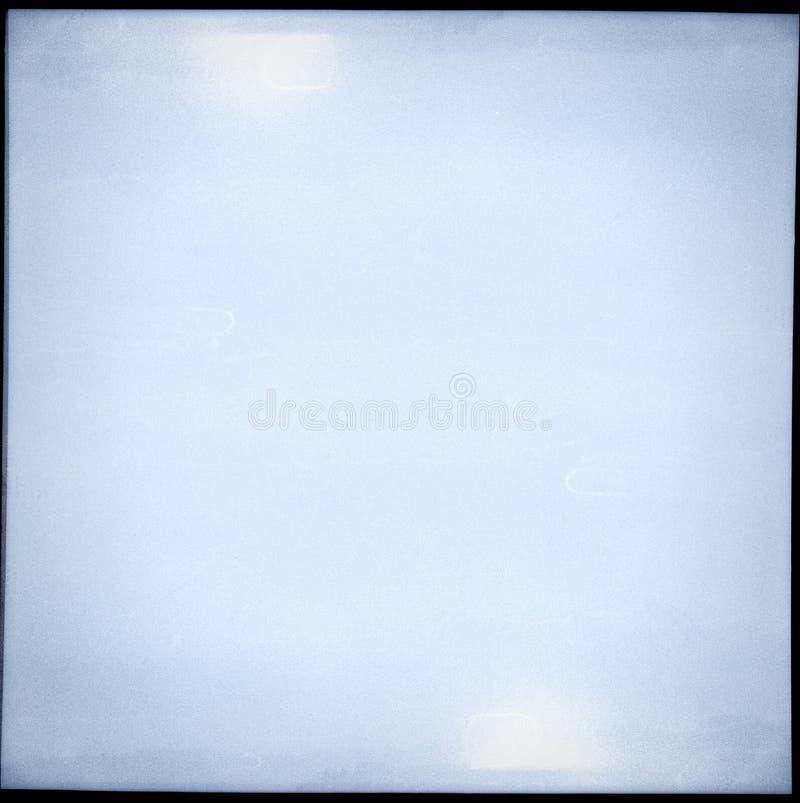 被曝光过度的中等格式胶卷画面 库存照片