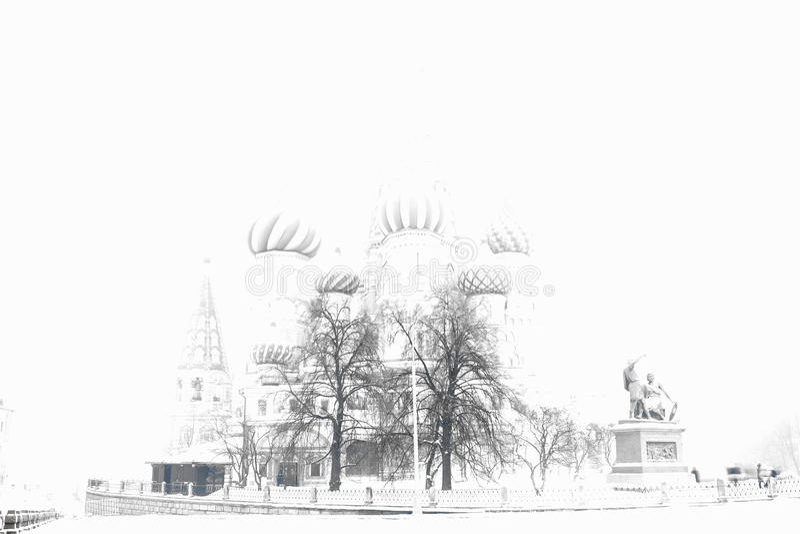 被曝光过度的圣徒蓬蒿` s大教堂bokeh背景 库存照片