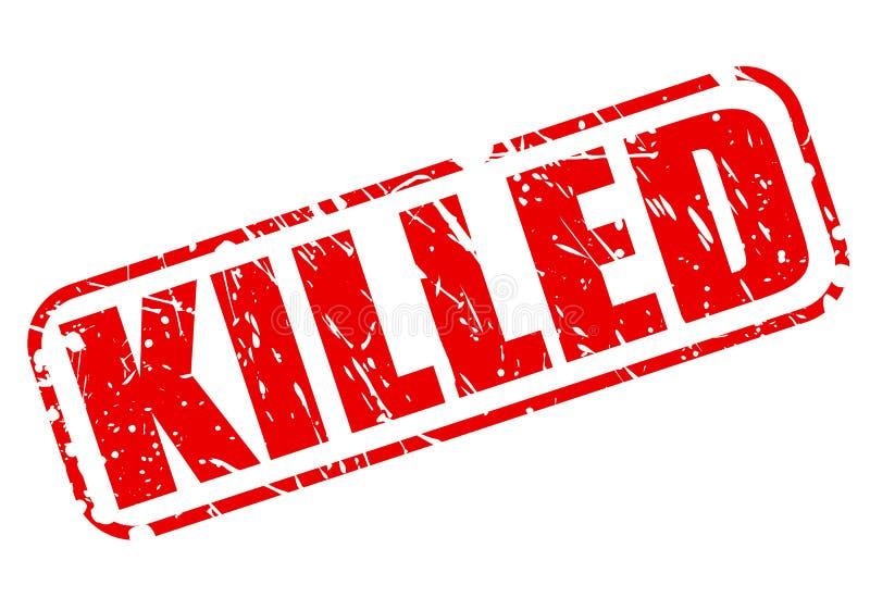 被杀死的红色邮票文本 库存例证
