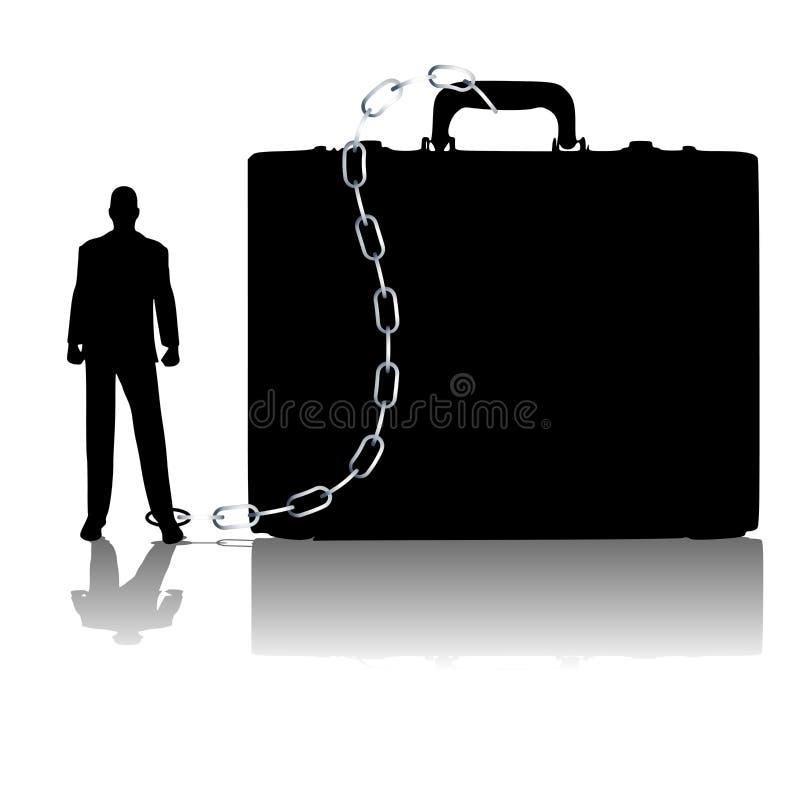 被束缚的公文包生意人 皇族释放例证