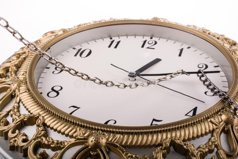 被束缚的时钟 免版税图库摄影