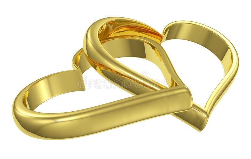 被束缚的金黄重点对角线视图夫妇  皇族释放例证