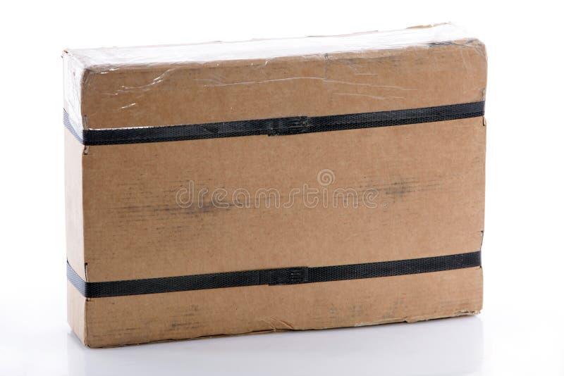 被束缚的长方形纸板箱 免版税库存照片