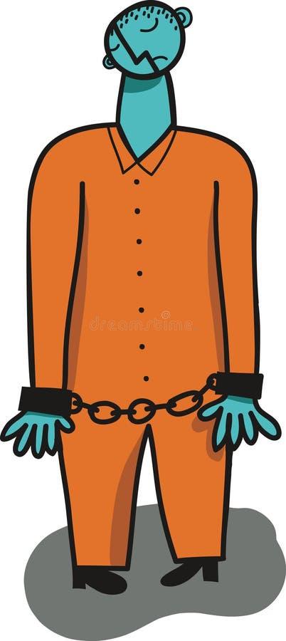 被束缚的prisioner 皇族释放例证