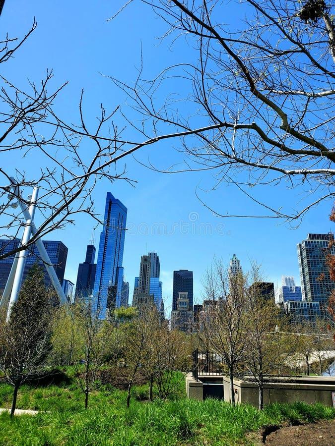 被构筑的城市公园 图库摄影
