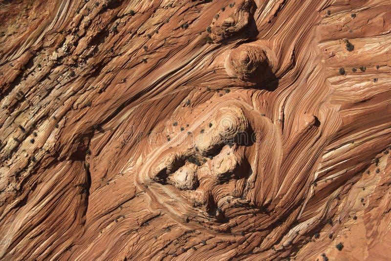 被构造的岩石 免版税库存照片