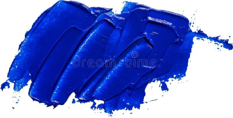 被构造的蓝色油漆刷子冲程隔绝了 向量例证