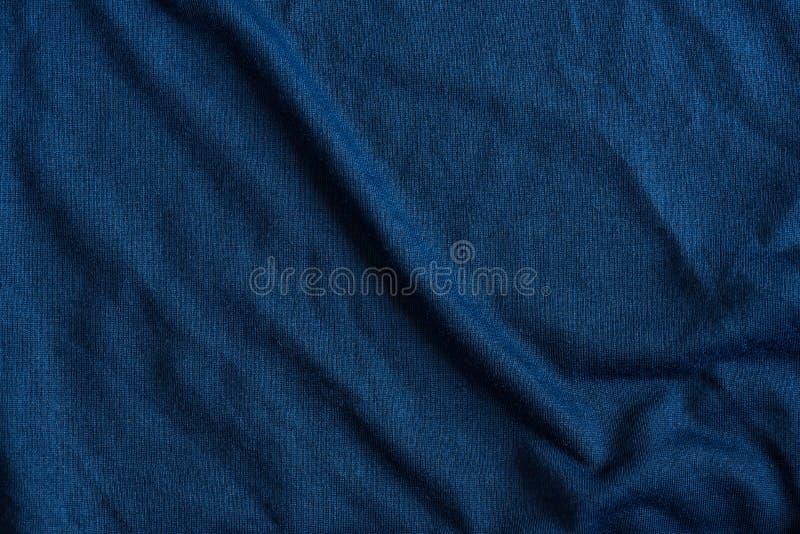 被构造的蓝色织品 库存图片