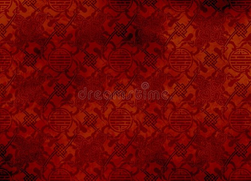 被构造的backg中国金银细丝工的模式红ō 库存照片