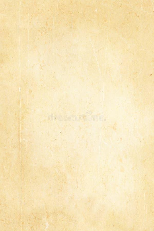 被染黄的老纸纹理 皇族释放例证
