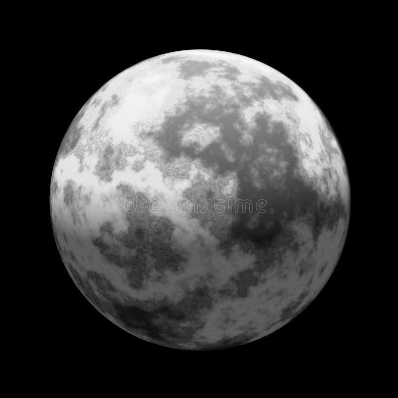 被查看的月亮空间 库存例证