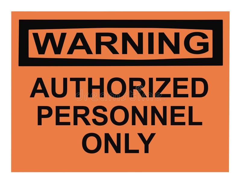 被核准的人事部警告 库存照片