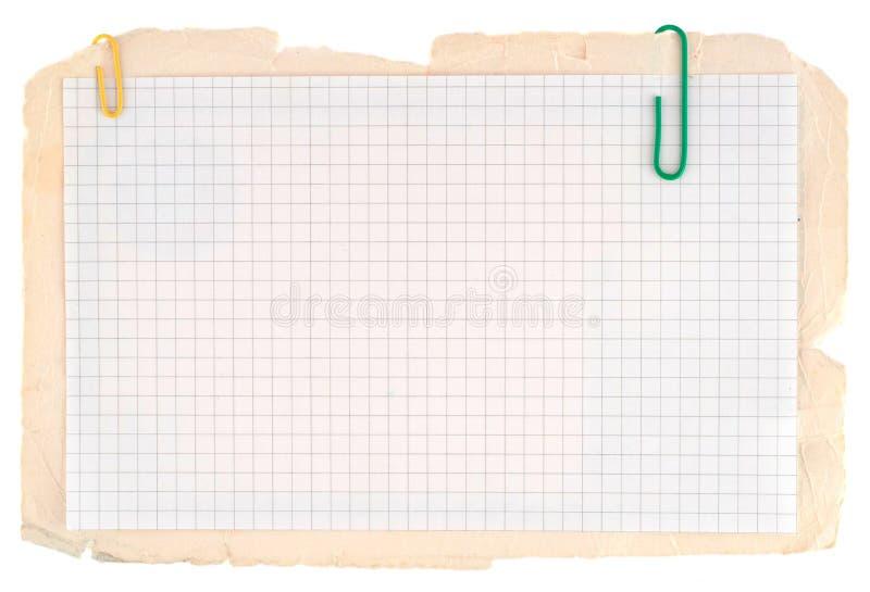 被检查的笔记本纸张 库存图片