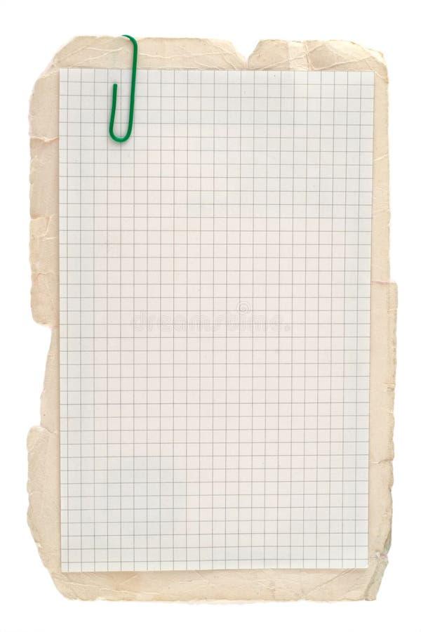 被检查的笔记本纸张 免版税库存图片
