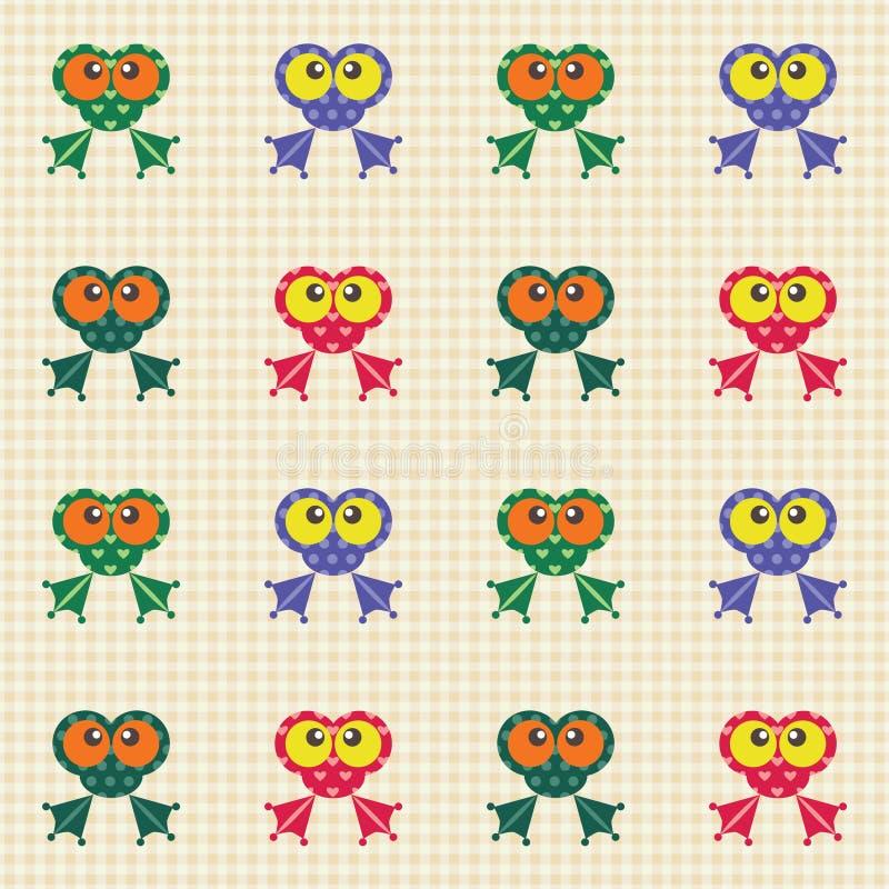 被检查的青蛙滑稽的模式 皇族释放例证