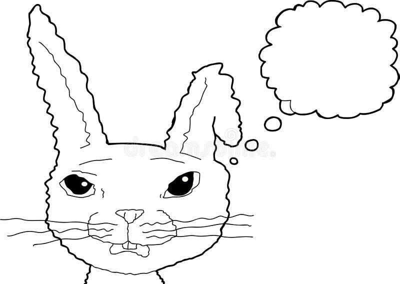 被概述的惊奇的兔子认为 皇族释放例证