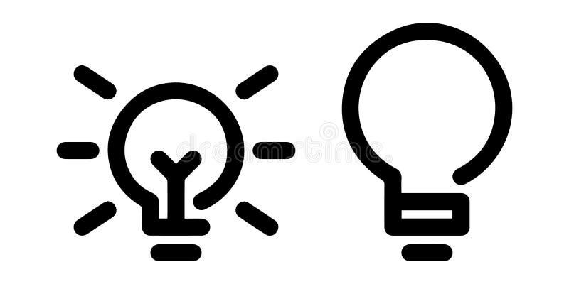 被概述的电灯泡或轻的泡影象 皇族释放例证
