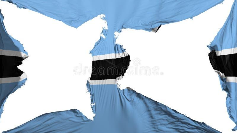 被毁坏的博茨瓦纳旗子 皇族释放例证