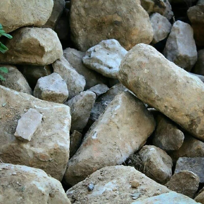 被毁坏的城堡在托斯卡纳 库存照片