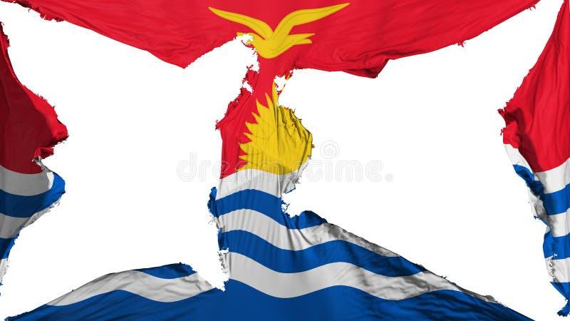 被毁坏的基里巴斯旗子 皇族释放例证