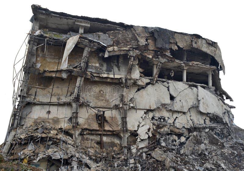 被毁坏的大厦 免版税库存照片