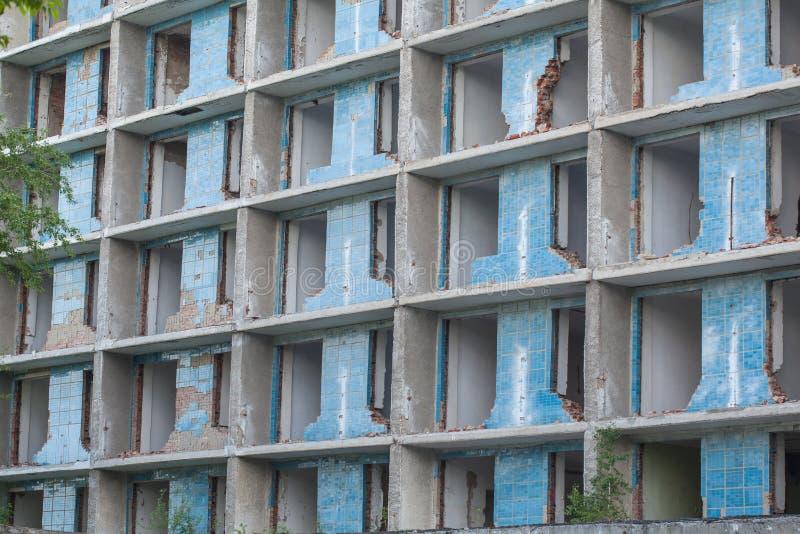 被毁坏的大厦 图库摄影