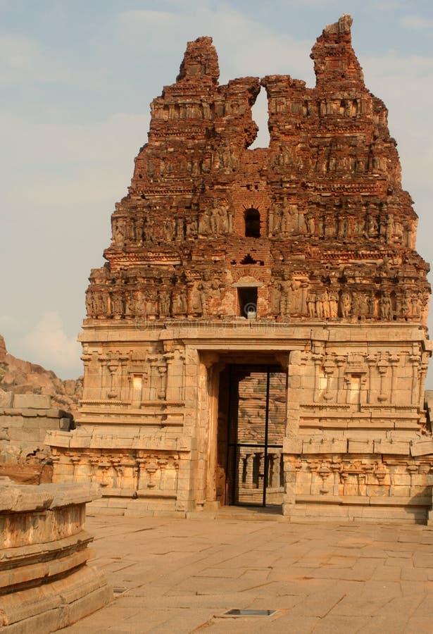 被毁坏的寺庙 库存照片