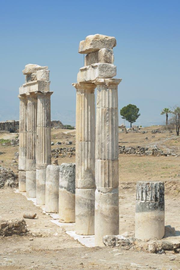 被毁坏的寺庙 库存图片