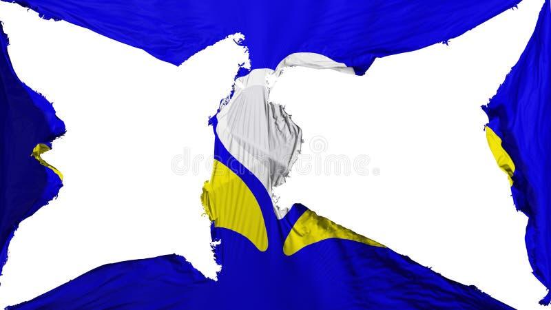 被毁坏的布鲁塞尔旗子 向量例证
