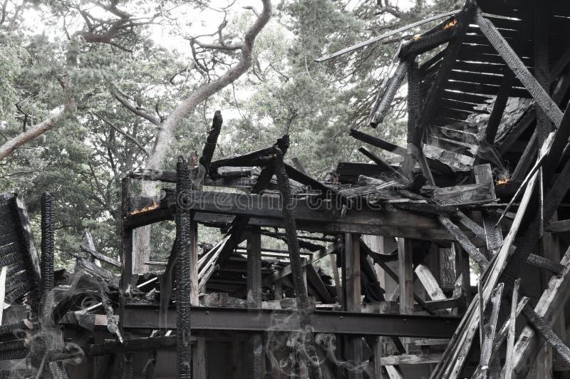 被毁坏的房子 免版税图库摄影