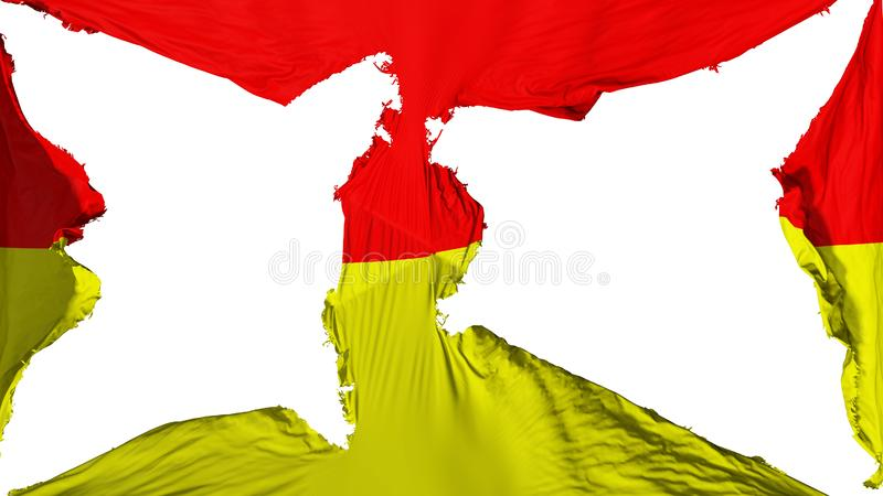 被毁坏的比勒陀利亚市旗子 向量例证