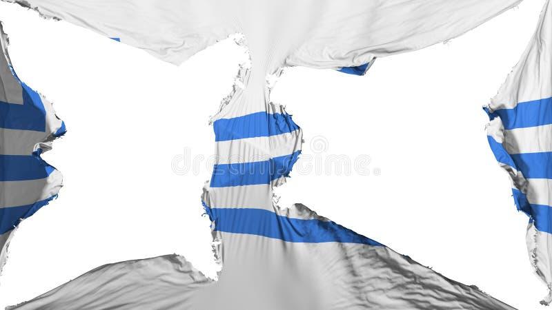 被毁坏的波多里加旗子 皇族释放例证