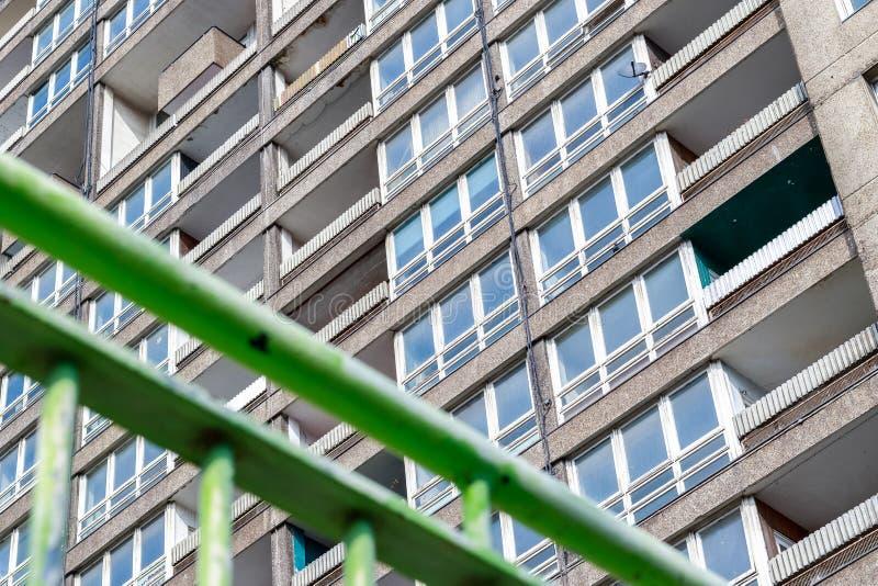 被毁坏的理事会公寓住房块, Balfron塔 免版税库存图片