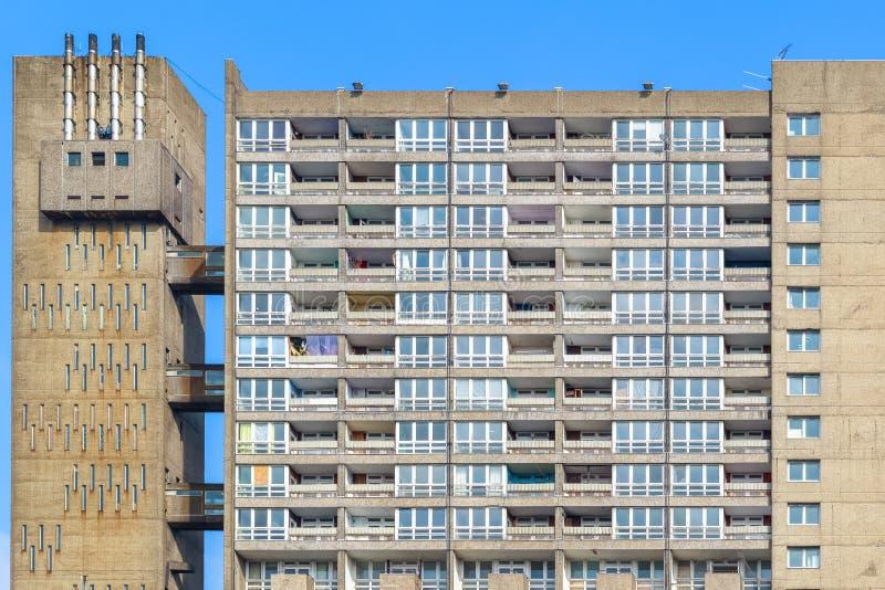 被毁坏的理事会公寓住房块, Balfron塔 免版税库存照片