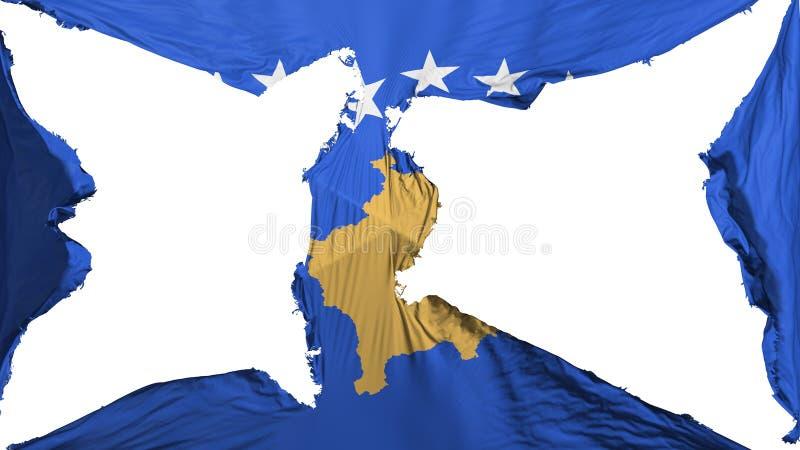 被毁坏的科索沃旗子 皇族释放例证