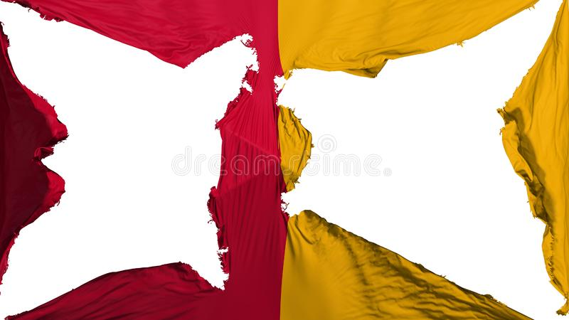 被毁坏的罗马市旗子 皇族释放例证