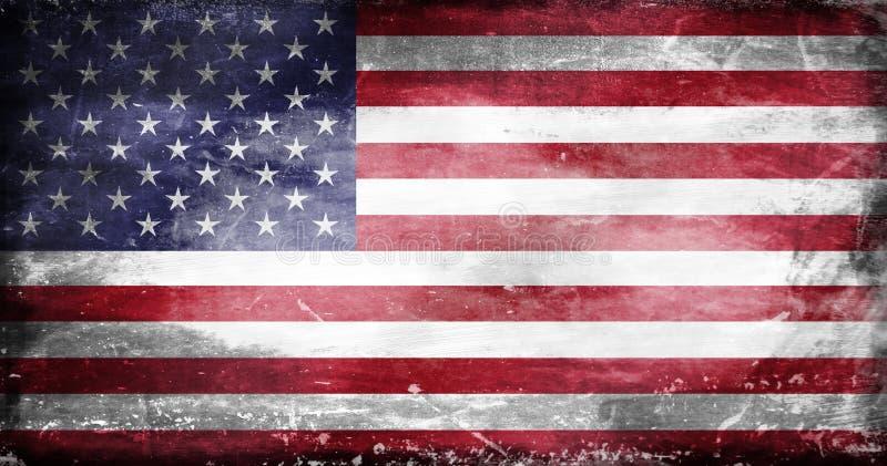 被毁坏的美国旗子1 皇族释放例证